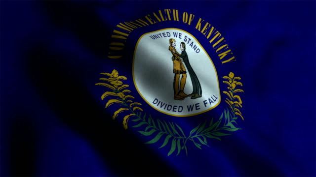 kentucky state flag - kentucky stock videos and b-roll footage