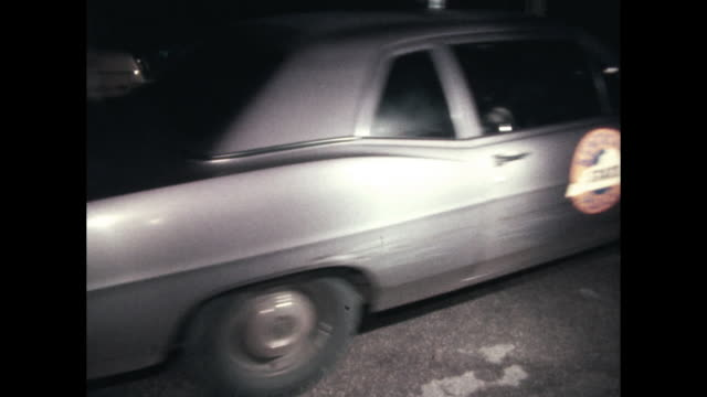 kentucky state police cars drive by in the dark of the night - kentucky stock videos & royalty-free footage
