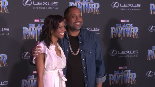 Kenya Barris and guest at the Marvel Studios' 'Black Panther' World Premiere at Dolby Theatre on January 29 2018 in Hollywood California