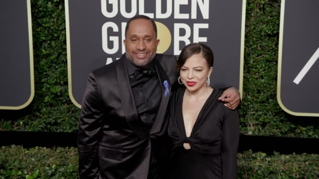 Kenya Barris and Rainbow EdwardsBarris at the 75th Annual Golden Globe Awards at The Beverly Hilton Hotel on January 07 2018 in Beverly Hills...