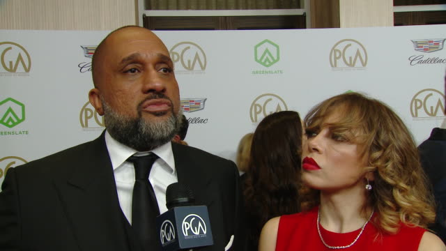 kenya barris on being honored with the visionary award and what that means to him on the cultural impact that blackish has made on diversity in... - kenya barris stock videos & royalty-free footage