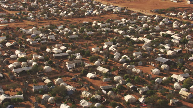 Kenya, Dabaab: Aerial view of Hadagera Camp