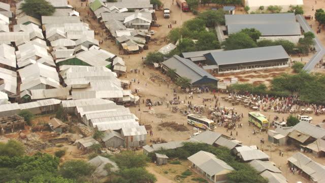 Kenya, Dabaab: Hadagera's marketplace and bus terminal