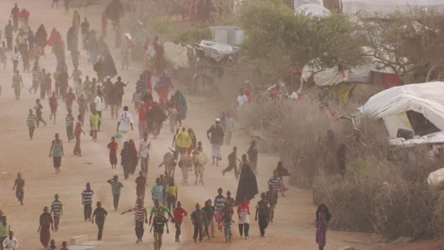 kenya dadaab : people who run in kambioos camp - emigration and immigration stock videos & royalty-free footage