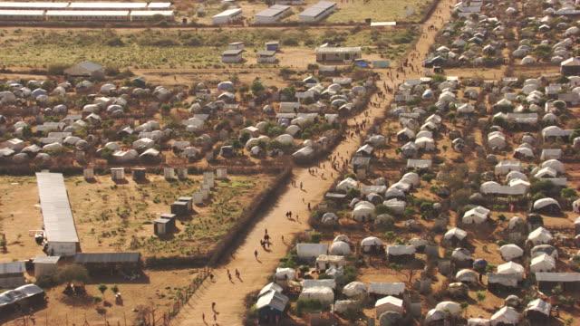 vidéos et rushes de kenya dadaab : wide plan of hagadera camp - réfugié