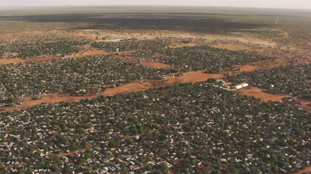 Kenya Dadaab : Wide shot of a Refugee camps