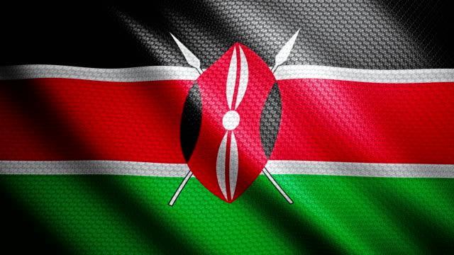 kenya flag 4k - kenyan flag stock videos & royalty-free footage