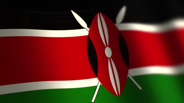 kenya flag - loop. 4k. - kenyan flag stock videos & royalty-free footage