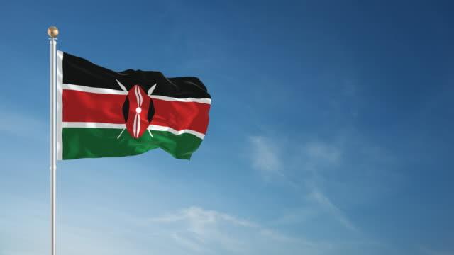 4k kenya flag - loopable - flag stock videos & royalty-free footage