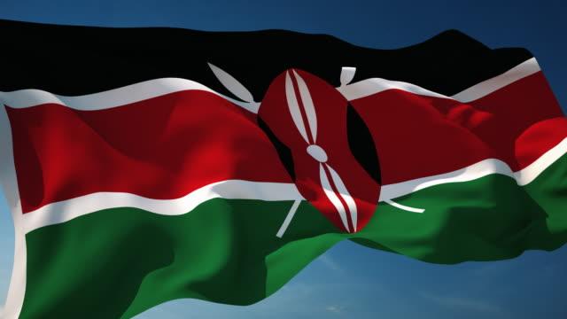 4k kenya flag - loopable - kenyan flag stock videos & royalty-free footage