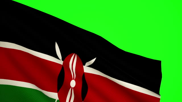 kenya flag luma matte - kenyan flag stock videos & royalty-free footage