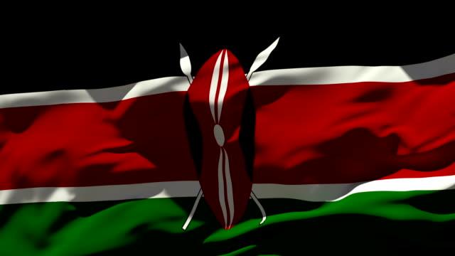 kenya flag - kenyan flag stock videos & royalty-free footage