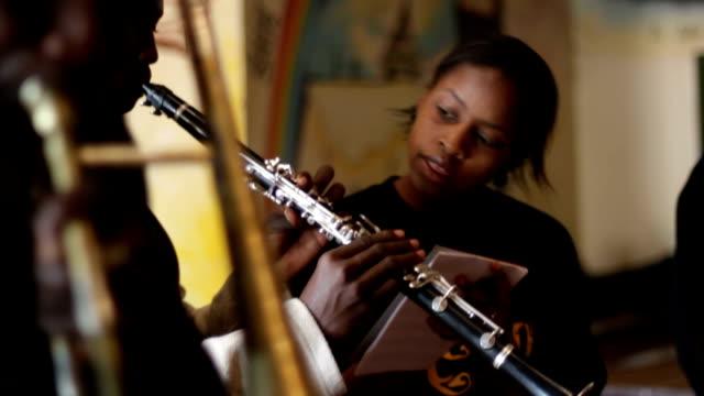 kenya, nairobi, korogocho slum, ghetto classic music band - clarinet stock videos & royalty-free footage