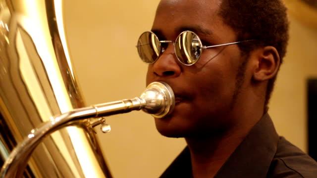 kenya, nairobi, korogocho slum, ghetto classic music band - trombone stock videos & royalty-free footage