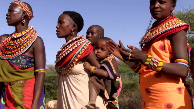 kenya, samburu national reserve, samburu people - 先住民文化点の映像素材/bロール