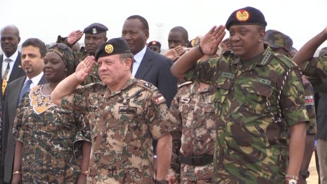 kenyan and jordanian soldiers take part in a joint military exercise in nairobi with jordan's king abdullah and kenya's president uhuru kenyatta... - army stock videos & royalty-free footage