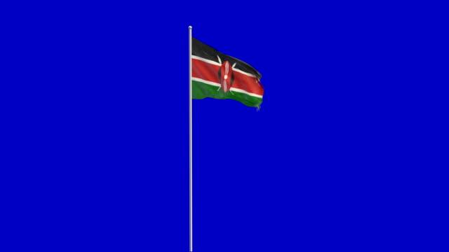kenyan flag rising