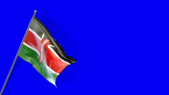 kenyan flag rising - kenyan flag stock videos & royalty-free footage
