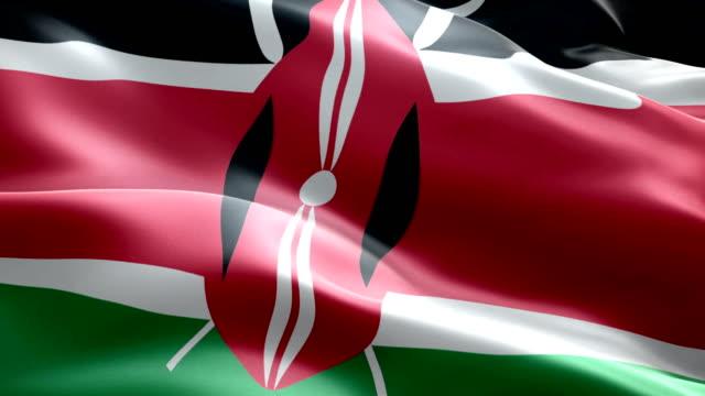 kenyan flag - kenyan flag stock videos & royalty-free footage