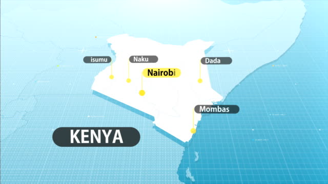 kenyan map - kenya stock videos & royalty-free footage