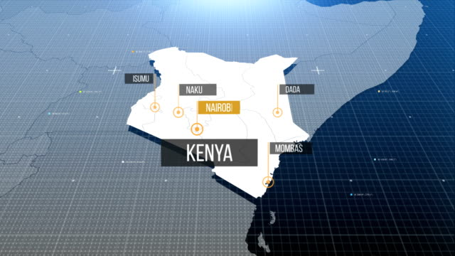 kenyan map with label then with out label - kenya stock videos & royalty-free footage