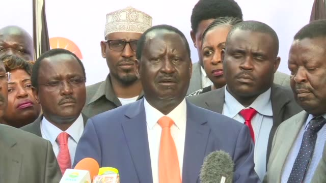 kenyan opposition leader raila odinga announces he is withdrawing from a re run of the presidential election - raila odinga stock videos and b-roll footage