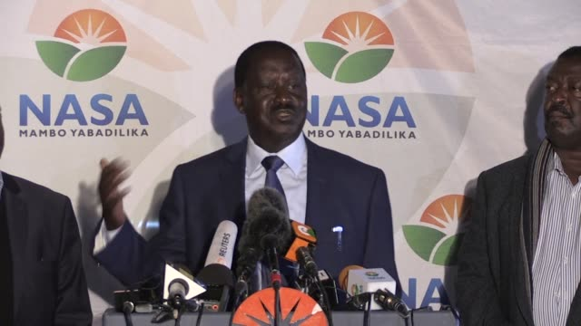 kenyan opposition leader raila odinga rejects partial election results claiming at a morning press conference that they were the result of a... - raila odinga stock videos and b-roll footage