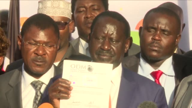 kenyan opposition leader raila odinga withdrew from a re run of the presidential election on tuesday in the latest twist to a political saga that has... - raila odinga stock videos and b-roll footage