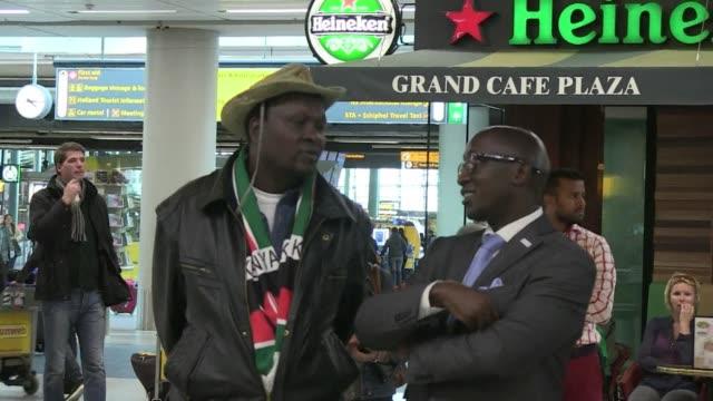 kenyan president uhuru kenyatta arrived at amsterdams schiphol airport on tuesday ahead of a landmark appearance before the international criminal... - international criminal court stock videos and b-roll footage