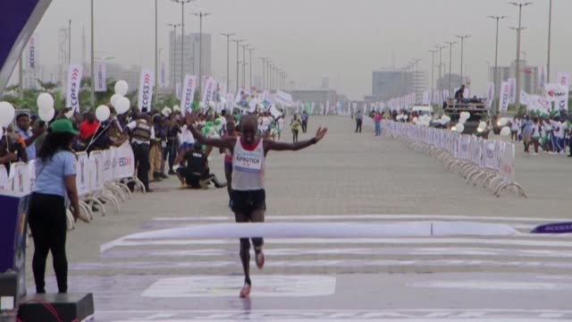 Kenya's Abraham Kiprotich wins this year's Lagos City Marathon taking home a prize of 50000 dollars