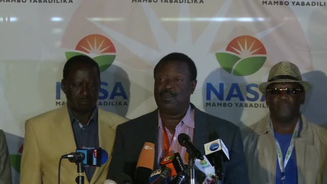 kenya's main opposition coalition demanded thursday that its candidate raila odinga be declared president claiming it had evidence he had won an... - raila odinga stock videos and b-roll footage