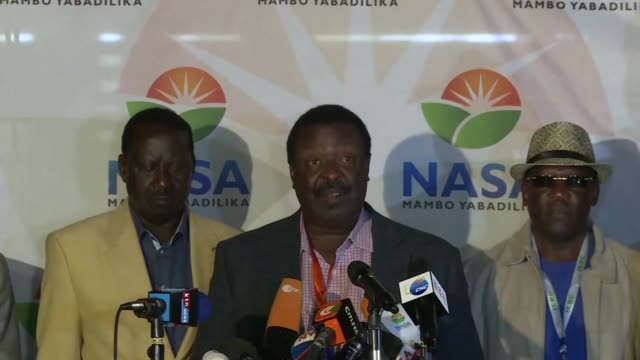 kenya's opposition coalition the national super alliance on thursday demanded its candidate raila odinga be declared president claiming it had... - raila odinga stock videos and b-roll footage