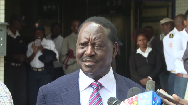 kenya's opposition leader raila odinga says it is not too late to make the reforms that would make him reconsider his decision to withdraw from the... - raila odinga stock videos and b-roll footage