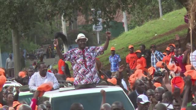 kenya's opposition leader raila odinga urges his supporters to boycott thursday's presidential re run election claiming it will not be free and fair - assertiveness stock videos & royalty-free footage