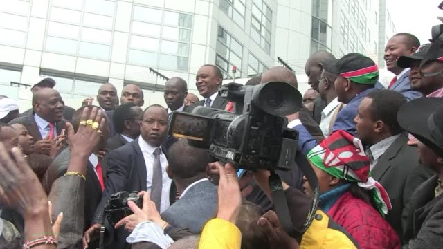 kenyas uhuru kenyatta on wednesday became the first sitting president to appear before the international criminal court where his lawyer sought an... - international criminal court stock videos and b-roll footage