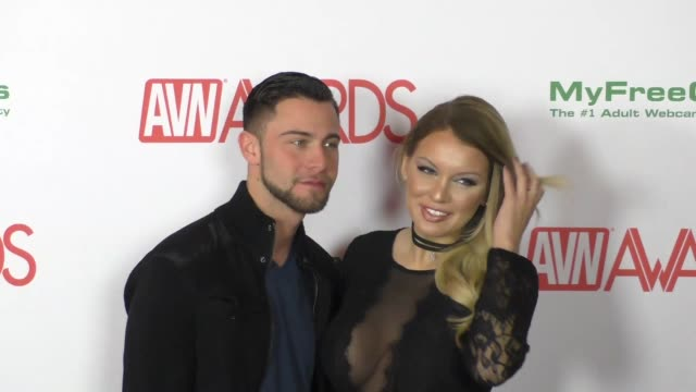 Kenzie Taylor Seth Gamble At The 2017 Avn Awards Nomination Party Stock Footage Video Getty Images