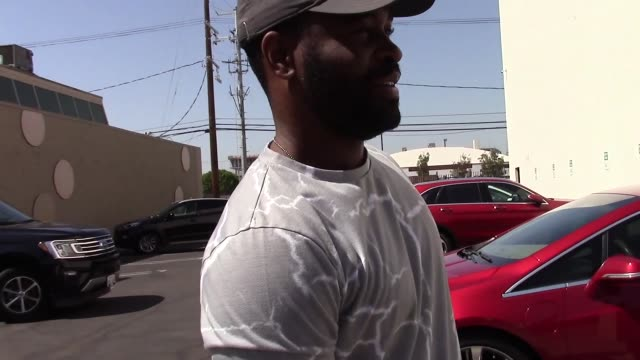 interview keo motsepe reveals his dream partner for next season outside the dwts rehearsal studio in hollywood in celebrity sightings in los angeles - dancing with the stars stock videos & royalty-free footage