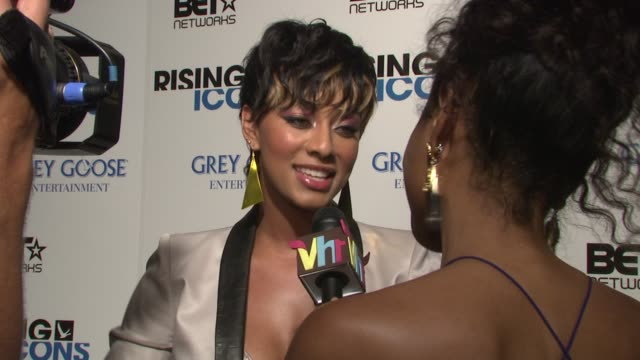 keri hilson at the grey goose_ entertainment presents 'rising icons' on the bet network at new york ny - black entertainment television stock videos & royalty-free footage