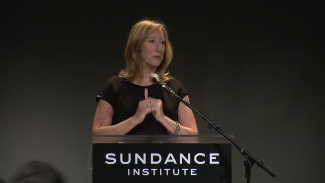 speech keri putnam sundance institute executive director thanks everyone for attending this event at 2013 tennessee williams award at 711 greenwich... - executive director stock videos & royalty-free footage