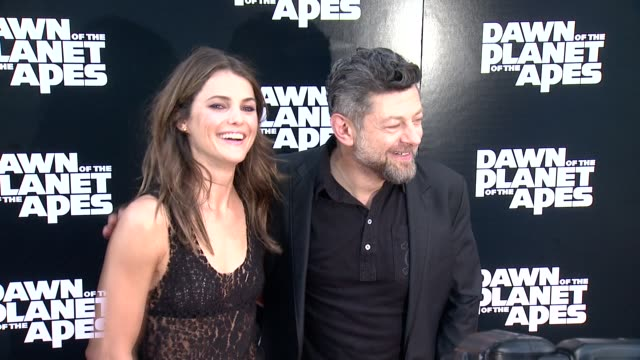 keri russell and andy serkis at dawn of the planet of the apes screening at williamsburg cinemas on july 08, 2014 in new york city. - andy serkis stock videos & royalty-free footage