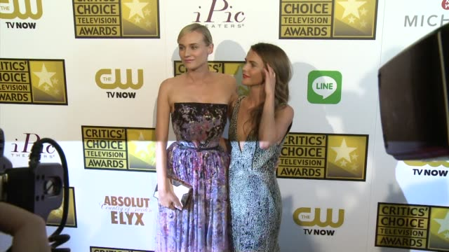 Keri Russell and Diane Kruger at the 2014 Critics' Choice Television Awards at The Beverly Hilton Hotel on June 19 2014 in Beverly Hills California