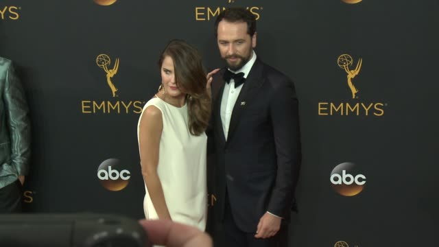 Keri Russell and Matthew Rhys at the 68th Annual Primetime Emmy Awards Arrivals at Microsoft Theater on September 18 2016 in Los Angeles California