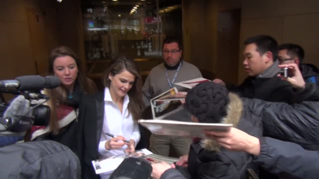 Keri Russell exits the Today show in Rockefeller Center signs for fans in Celebrity Sightings in New York