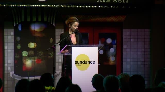 SPEECH Keri Russell talks about filmmaker Damien Chazelle before presenting him with the Sundance Institute Vanguard Award Sundance Institute New...