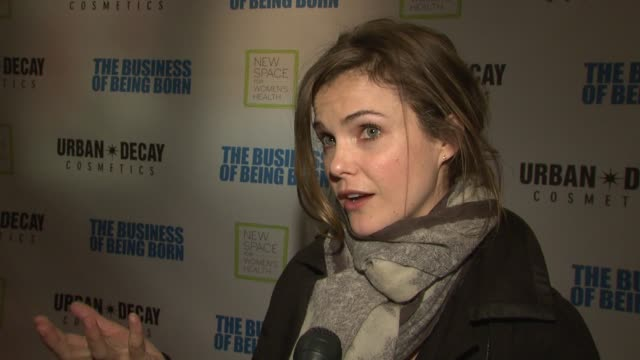 Keri Russell talks about leaving her son at home being out on the town about why the film is important and raising money for the New Space for...