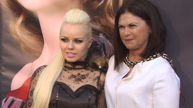 kerli and colleen atwood at the opening night of fidm exhibit for walt disney studios 'alice in wonderland' at los angeles ca - alice in wonderland stock videos and b-roll footage