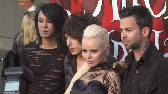 kerli and the band at the opening night of fidm exhibit for walt disney studios 'alice in wonderland' at los angeles ca - alice in wonderland stock videos and b-roll footage