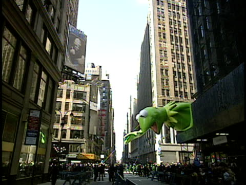 WS Kermit the Frog on Thanksgiving Day parade New York City New York USA
