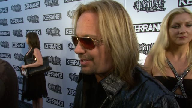 kerrang for the first time at the the relentless energy drink kerrang awards 2010 at london england - vince neil stock videos and b-roll footage