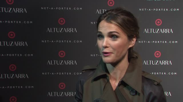 INTERVIEW Kerri Russell on supporting Joseph's new line at Altuzarra For Target Launch Event at Skylight Clarkson Sq on September 04 2014 in New York...